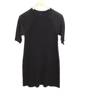 Free People | Short Sleeve Ribbed Dress Black Sz S